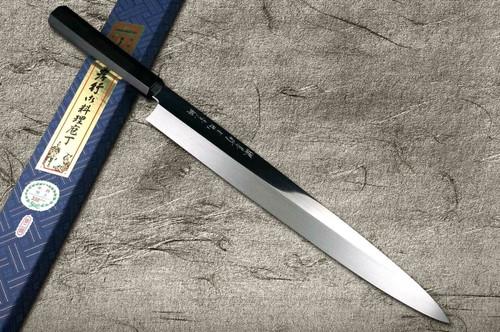 Sakai Takayuki Honyaki Water Quench Aogami 2 Steel Japanese Chefs YanagibaSashimi 360mm