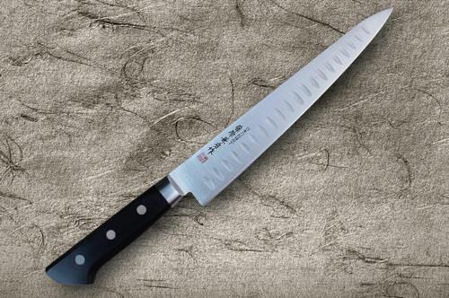 Fujiwara Kanefusa Molybdenum Stainless Dimples Japanese Chefs SlicerSujihiki 240mm