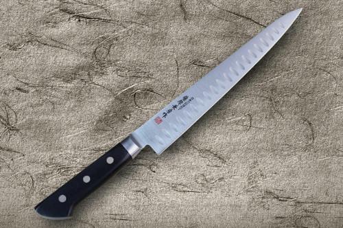 Fujiwara Kanefusa Molybdenum Stainless Dimples Japanese Chefs SlicerSujihiki 270mm