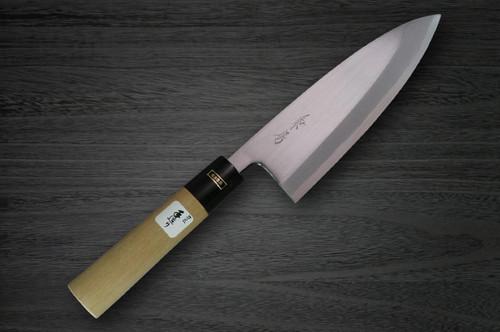Fujiwara Kanefusa White Steel Japanese Chefs Deba Knife 135mm