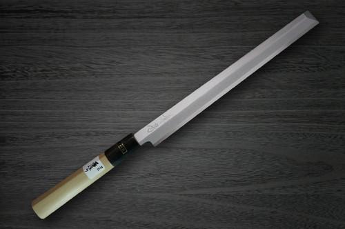 Fujiwara Kanefusa White Steel Japanese Chefs TakohikiSashimi 180mm