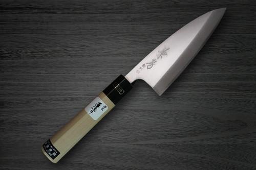Fujiwara Kanefusa V-Gold Stainless Japanese Chefs Aji-Kiri 120mm
