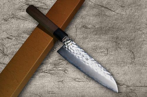 Sakai Takayuki VG10 Hammered WA Japanese Chef's Santoku Knife 170mm