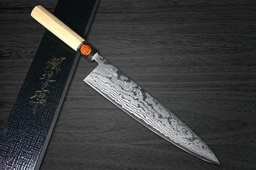 Shigeki Tanaka Aogami No.2 Damascus MB Japanese Chefs Gyuto Knife 270mm with Magnolia Wood Handle