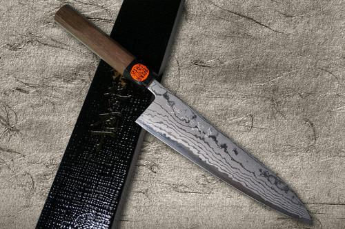 Shigeki Tanaka Aogami No.2 Damascus WN Japanese Chefs Gyuto Knife 210mm with Walnut Handle