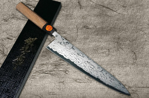 Shigeki Tanaka Aogami No.2 Damascus WN Japanese Chefs Gyuto Knife 270mm with Walnut Handle