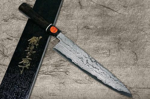 Shigeki Tanaka Aogami No.2 Damascus EB Japanese Chefs Gyuto Knife 240mm with Ebony Handle
