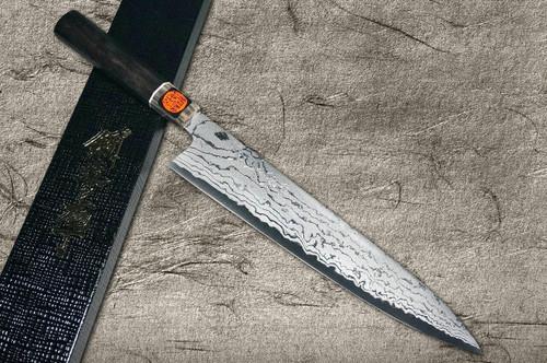 Shigeki Tanaka Aogami No.2 Damascus EB Japanese Chefs Gyuto Knife 270mm with Ebony Handle