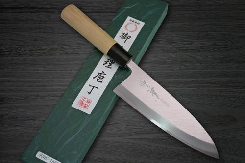 Yoshihiro White No.2 Supreme Jousaku JCHC Japanese Chefs Deba Knife 210mm with Magnolia Wood Handle