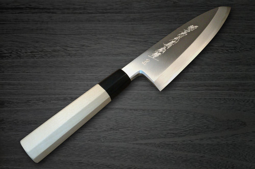Yoshihiro Aogami No.2 Aogasumi B2HC Japanese Chefs Deba Knife 150mm with Magnolia Wood Handle