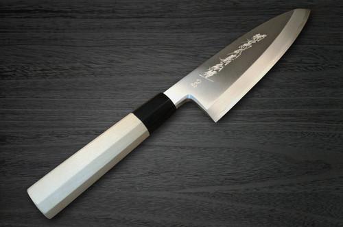 Yoshihiro Aogami No.2 Aogasumi B2HC Japanese Chefs Deba Knife 225mm with Magnolia Wood Handle