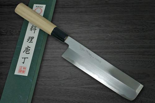 Yoshihiro White No.2 Supreme Jousaku JCHC Japanese Chefs UsubaVegetable 180mm with Magnolia Wood Handle
