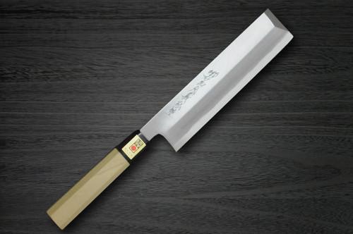 Yoshihiro Aogami No.2 Aogasumi B2HC Japanese Chefs UsubaVegetable 195mm with Magnolia Wood Handle