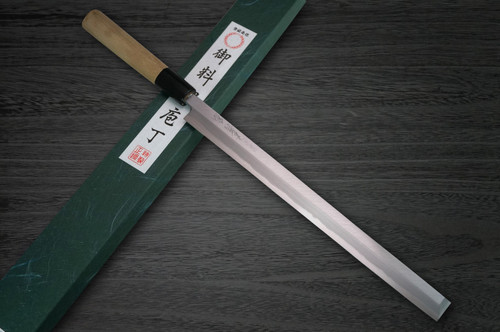 Yoshihiro White No.2 Supreme Jousaku JCHC Japanese Chefs TakohikiSashimi 240mm with Magnolia Wood Handle