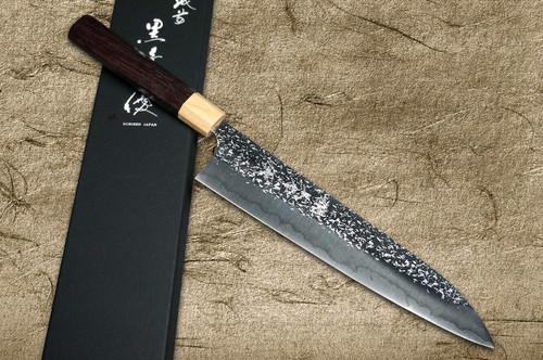 Yu Kurosaki R2SG2 Hammered SHIZUKU WA RS8P Japanese Chefs Gyuto Knife 240mm with White-Ring Octagonal Handle