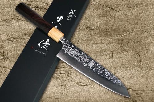 Yu Kurosaki R2SG2 Hammered SHIZUKU WA RS8P Japanese Chefs Gyuto Knife 180mm with White-Ring Octagonal Handle