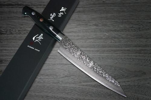 Yu Kurosaki R2SG2 Hammered SHIZUKU Custom MCBC Japanese Chefs Petty KnifeUtility 150mm with Black Micarta Handle