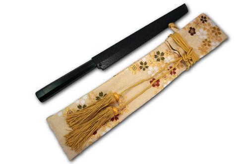 Nishiki Kimono Kitchen Knife Carry Bag Kinran Gold Brocaded Golden Lace