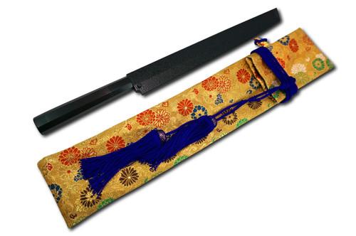 Nishiki Kimono Kitchen Knife Carry Bag Gold Flower Purple Lace