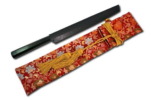 Nishiki Kimono Kitchen Knife Carry Bag Asuka Rouge Flower Golden Lace