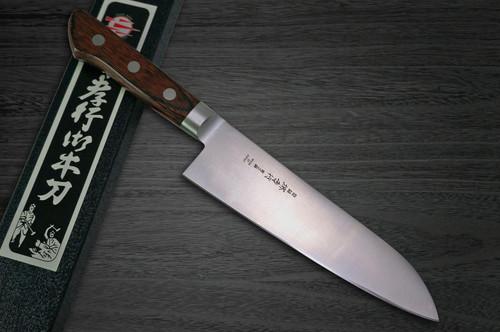 Sakai Takayuki Aoniko Blue 2 Steel Japanese Chefs Santoku Knife 180mm