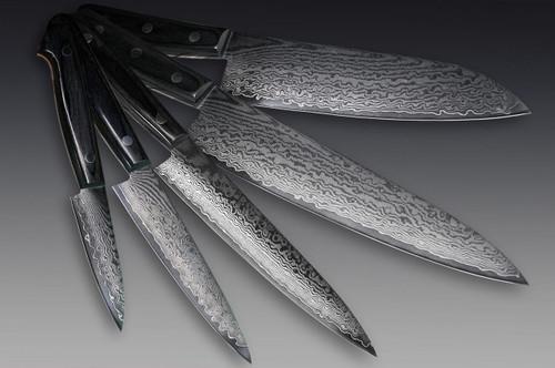 Iseya G-series 33 Layer VG-10 Damascus Japanese Chefs Knife SET Gyuto - Santoku - Petty150mm - Petty120mm - Paring