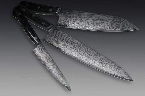 Iseya G-series 33 Layer VG-10 Damascus Japanese Chefs Knife SET Gyuto - Santoku - Petty120mm