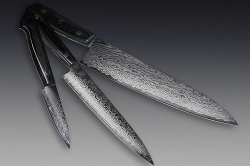 Iseya G-series 33 Layer VG-10 Damascus Japanese Chefs Knife SET Gyuto - Petty150mm - Paring