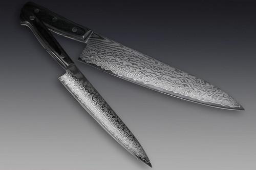 Iseya G-series 33 Layer VG-10 Damascus Japanese Chefs Knife SET Gyuto210mm - Petty150mm