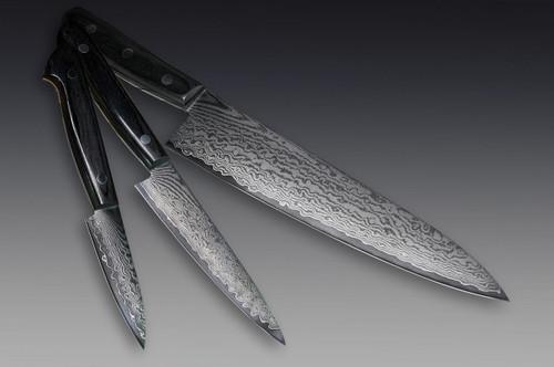 Iseya G-series 33 Layer VG-10 Damascus Japanese Chefs Knife SET Gyuto - Petty120mm - Paring