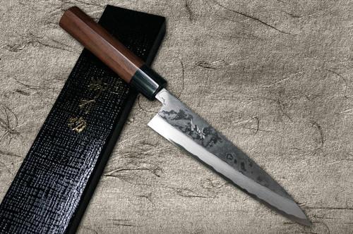 Takayuki Iwai Shirogami No.1 Damascus FUMON RS Japanese Chefs Mioroshi Deba 180mm