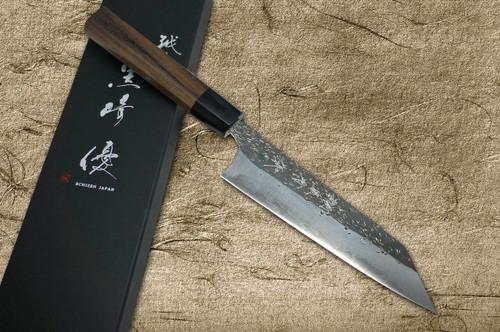 Yu Kurosaki Aogami Super Hammered Kurouchi WA RS8B Japanese Chefs Bunka Knife 165mm with Black-Ring Octagonal Handle