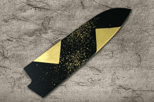 Saya Sheath with Genuine 24K Japanese Gold Leaf Santoku Knife 180mm