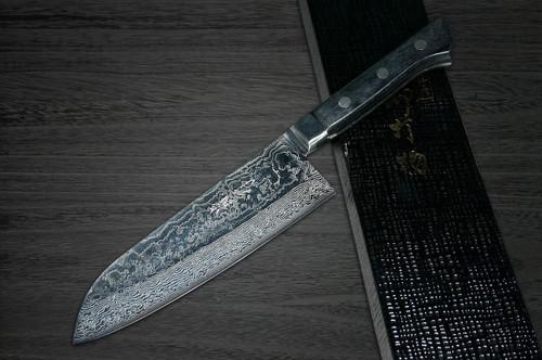 Takayuki Iwai VG10 Damascus UKIGUMO RS Japanese Chefs Santoku Knife 170mm