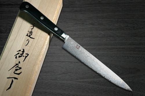 Hattori KD30 COWRY-X 121 Layered Damascus Japanese Chefs Petty KnifeUtility 135mm