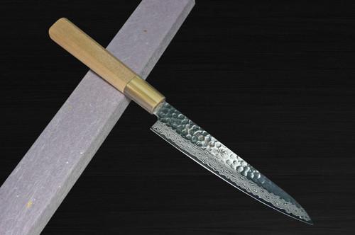 Sakai Takayuki 45-Layer Damascus Goldish Tsuba Japanese Chefs Petty KnifeUtility 150mm