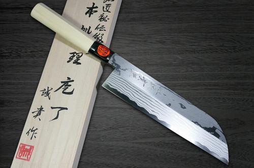 Shigeki Tanaka Aogami No.2 Damascus Japanese MB Chefs Kamagata-UsubaVegetable 210mm with Magnolia Wood Handle