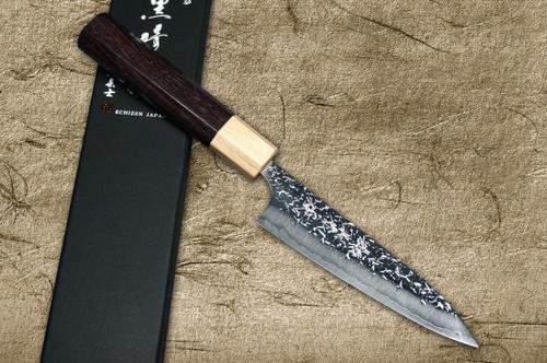 Yu Kurosaki R2SG2 Hammered SHIZUKU WA RS8P Japanese Chefs Petty KnifeUtility 120mm with White-Ring Octagonal Handle