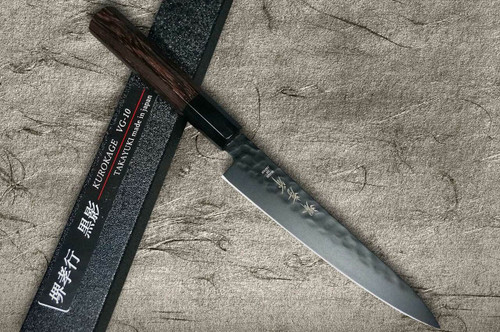 Sakai Takayuki Non-Stick Coating VG10 Hammered WA KUROKAGE Japanese Chefs Petty KnifeUtility 150mm with Wenge Handle