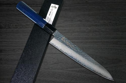 Sakai Takayuki 33-Layer VG10 Damascus Indigo Japan-Blue Chefs Gyuto Knife 210mm