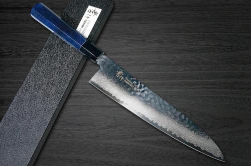 Sakai Takayuki 33-Layer VG10 Damascus Indigo Japan-Blue Chefs Gyuto Knife 240mm