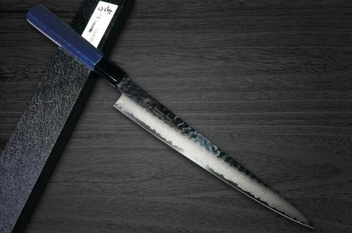 Sakai Takayuki 33-Layer VG10 Damascus Indigo Japan-Blue Chefs SlicerSujihiki 240mm