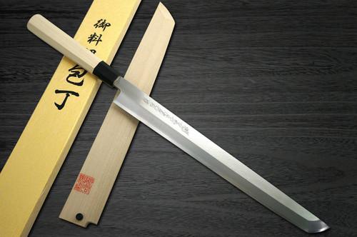 Yoshihiro Gingami No.3 G3HC Japanese Chefs Sakimaru-TakohikiSashimi 360mm with Saya Sheath and Magnolia Wood Handle