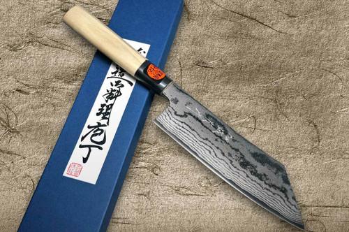 Shigeki Tanaka VG10 Damascus Japanese Chefs Hakata Knife 180mm with Magnolia Wood Handle