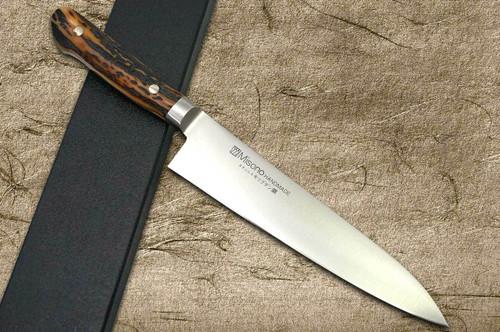 Misono MV Stainless Steel Antler Handle Japanese Chefs Gyuto Knife 180mm