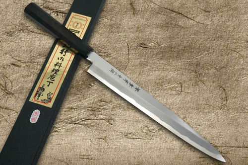 Sakai Takayuki Aoniko Blue 2 Steel Ebony Handle Japanese Chefs YanagibaSashimi 270mm