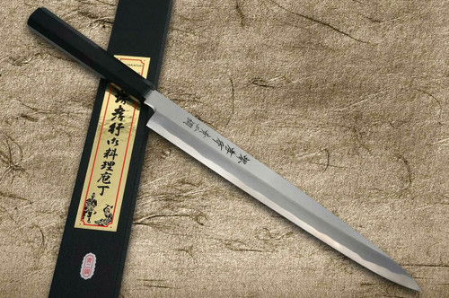Sakai Takayuki Aoniko Blue 2 Steel Ebony Handle Japanese Chefs YanagibaSashimi 300mm