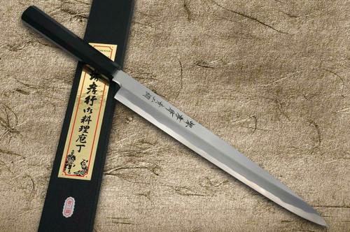 Sakai Takayuki Aoniko Blue 2 Steel Ebony Handle Japanese Chefs YanagibaSashimi 360mm