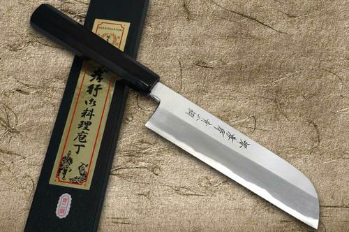Sakai Takayuki Aoniko Blue 2 Steel Ebony Handle Japanese Chefs Kamagata-UsubaVegetable 195mm