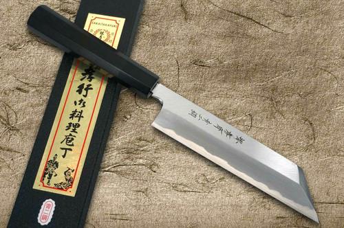 Sakai Takayuki Aoniko Blue 2 Steel Ebony Handle Japanese Chefs Peeling Knife 180mm